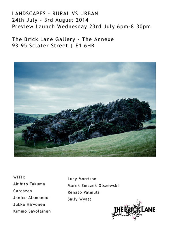 The Brick Lane Gallery art exhibition in London, features photography fineart from Kimmo Savolainen.